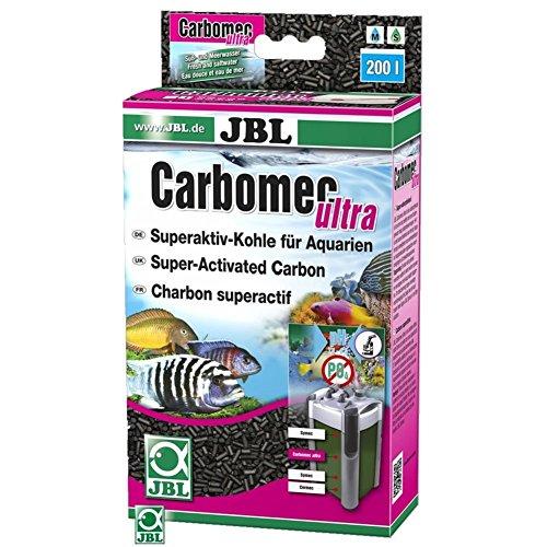 JBL Carbomec ultra 6235500 Superaktive Pelletierte Kohle für Filter von Meerwasser Aquarien, 800 ml