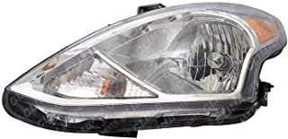 TYC 20-9602-00-1 Replacement front_left Head Lamp (Compatible with NISSAN VERSA), 1 Pack