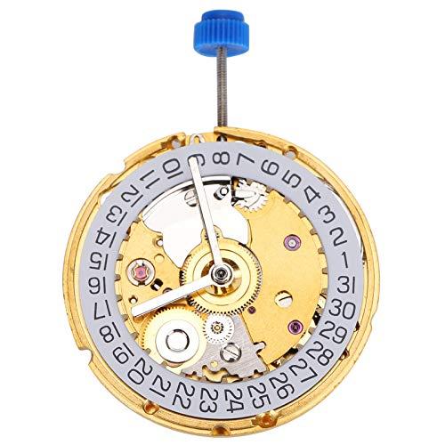 DAUERHAFT Durabilidad Movimiento del Reloj Material metálico Movimiento automático para 2824 st2130 Reloj Mecánico Pieza de Reloj Mano de Obra Exquisita(NO.2824 Golden)