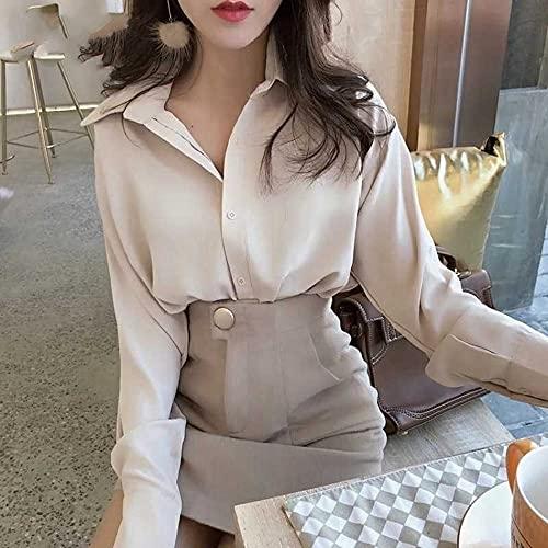 camicia donna coreana Camicie Casual Da Donna - Moda Primavera E Autunno Camicie Casual A Maniche Lunghe Da Donna