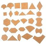 Xkfgcm 54 Pcs Plantilla de Patchwork de Regular Patchwork Quilting Transparente Patrón de Acrílico Stencil Set Art Decor para el Arte de Cuero Acolchar Herramienta de Costura DIY Patchwork