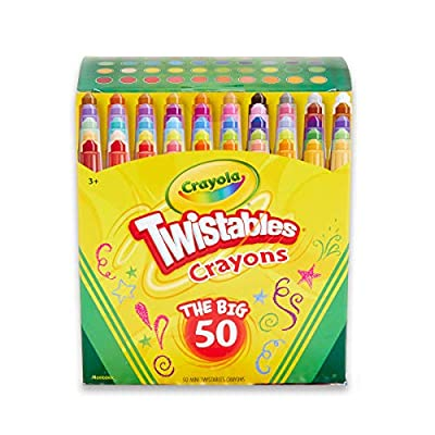 Crayola Twistables Crayons Coloring Set, Kids Stocking Stuffers, 50 Count by Binney & Smith