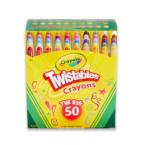 Crayola Twistables Crayons Coloring Set, Kids Indoor Activities At Home, 50 Count