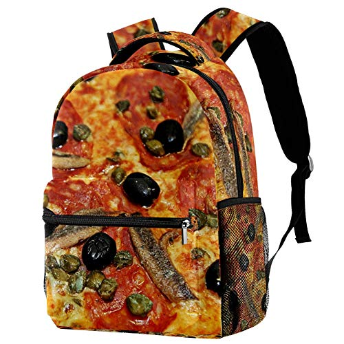 imobaby Kid Backpack Seafood Pizza Casual Daypack Large Travel Bags School Bookbags for Girl Boys Women