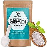 FABCARE Mentholkristalle Sauna (50g) inkl. Dosierlöffel - 100% natürliches Menthol, befreit die Atemwege - Erfrischendes Sauna Aufgussmittel aus reinem Minzöl - Sauna Kristalle - Sauna Zubehör