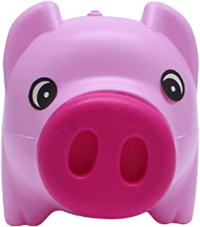 Kathson Piggy Bank Coin Money Cash Collectible Saving Box Pig Toy Kids Gift, pink,Plastic