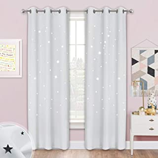 NICETOWN Star Curtains for Kids Room - Starry Magic Night...