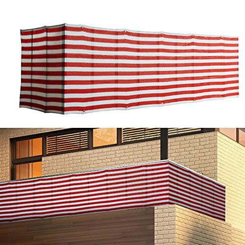 SKLLA Pantalla De Privacidad De Balcón Cubierta De Protección De Privacidad De Jardín Cubierta De Valla Parabrisas Parasol 5 X 0,9 M Pantalla Protectora Resistente a La Intemperie para Patio,Rojo
