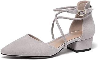 BalaMasa Womens ASL06659 Pu Block Heels