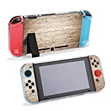 SUPNON Switch Case Compatible with Nintendo Switch Games Protective Hard Carrying Cover Case for Nintendo Switch Console Joy Con Controlle - Wood Plank Background Design7428