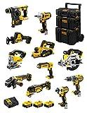 DeWALT Kit DWK1100 (DCD796 + DCH273 + DCG405 + DCF887 + DCF894 + DCS331 + DCS391 + DCS355 + DCP580 + DCS369 + DCL050 + 3 Batterie 5,0 Ah + Caricabatterie + Caddy 3en1)