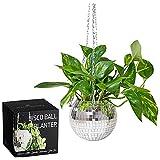 """SCANDINORDICA Disco Ball Planter - 6"""" Hanging Disco Ball Planter Pot Plant Hanger for Indoor Plants, Boho and Disco Ball Decor"""