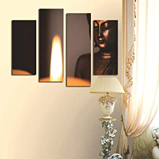 WSNDGWS Home Decoration, Inkjet, Four Fights, Religious Candle, Buddha Statue, Canvas Painting, No Picture Frame A1 20x40cmx2 20x60cmx2