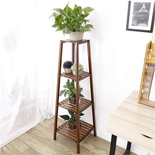 Pflanzenständer Blumenständer Antik Balkon Chlorophytum Bambus Blumenständer Nussbaum Eckzarge Wohnzimmer Landung Massivholz Multilayer Pflanze Blumentopf Regal Display ( Size : 33cm*33cm*118cm )