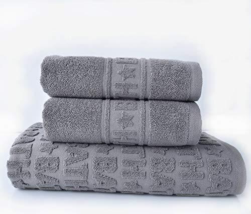 sei Design Luxus Frottee Handrtücher Set Bath Collection   5er Set   100% Baumwolle, 50 x 100, Taupe