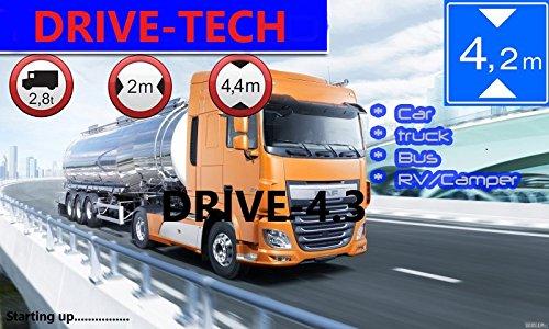 """4,3"""" Zoll Navigationsgerät DRIVE-4.3 . ganz Europa Neuste Karten für LKW TRUCK BUS TAXI, PKW, WOHNMOBIL UND CAMPER. Kostenlos karten update. 8GB interne speicher. Sofort Lieferbar."""
