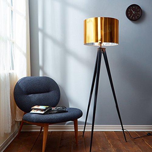 Romanza VN-L00004-EU vloerlamp met voet, lampenkap, goudkleurig