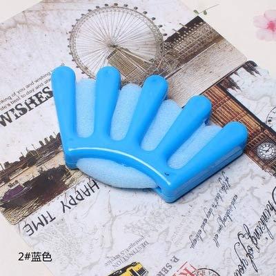1pc éponge cheveux tresser multifonction cheveux Tressage Outil français Twist Plait cheveux tresser Palm en forme Diy Accessoires de cheveux (Bleu)