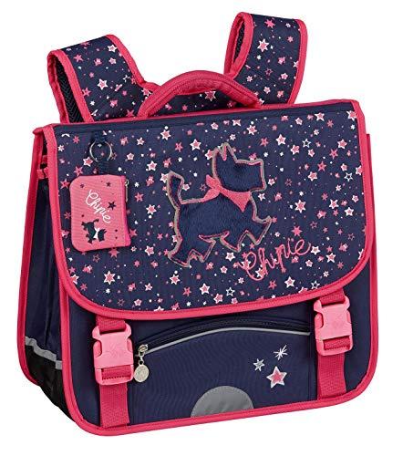 Cartera Chipie Galaxie, Mochila con 2 Compartimentos, 16 litros, 38 x 33 x 13 cm, Azul/Rosa
