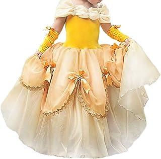 OBEEII Carneval Costume La Bella e La Bestia Abito Principessa Belle Vestito da Ragazze Festa Halloween Natale Cerimonia V...