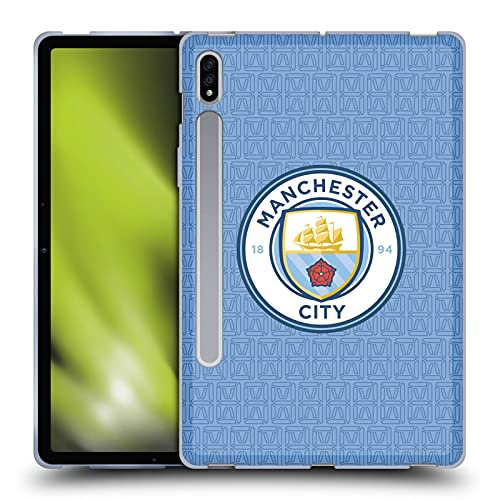 Head Case Designs Licenciado Oficialmente Manchester City Man City FC Casa Kit de Insignia 2021/22 Carcasa de Gel de Silicona Compatible con Samsung Galaxy Tab S7 5G