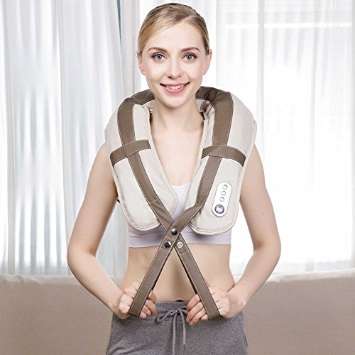 VIKTOR JURGEN Neck Shoulder Back Massager with Heat,Tapping Massage, Relax, Sooth and Relieve Body, Neck, Shoulder and Back Pain