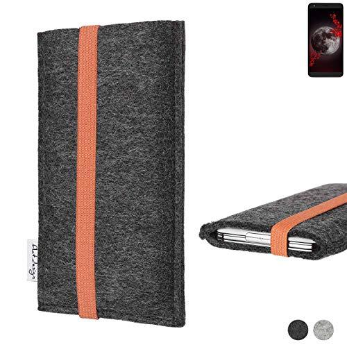 flat.design vegane Handy Tasche Coimbra für Sharp Aquos B10 - Schutz Hülle Tasche Filz vegan fair orange