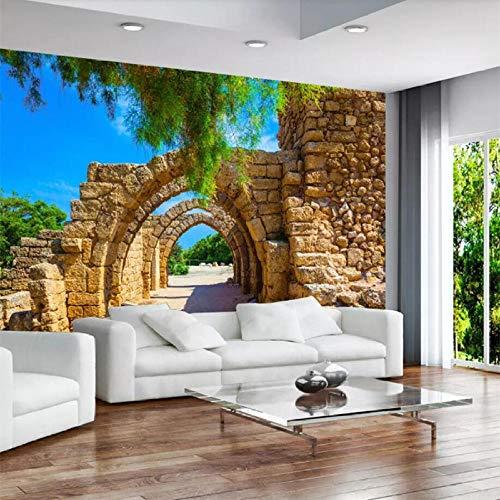 Papel Tapiz De Foto Personalizado Estilo Europeo Arcos Retro Pared De Ladrillo Estéreo Paisaje Pintura Papeles De Pared Decoración Papel Tapiz 3D