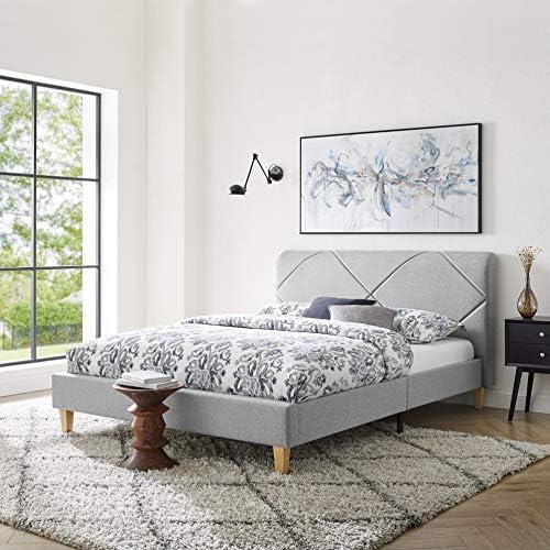 Vibe Upholstered Platform Bed Frame Headboard and Wood Slat Support Upholstered Platform Bed product image
