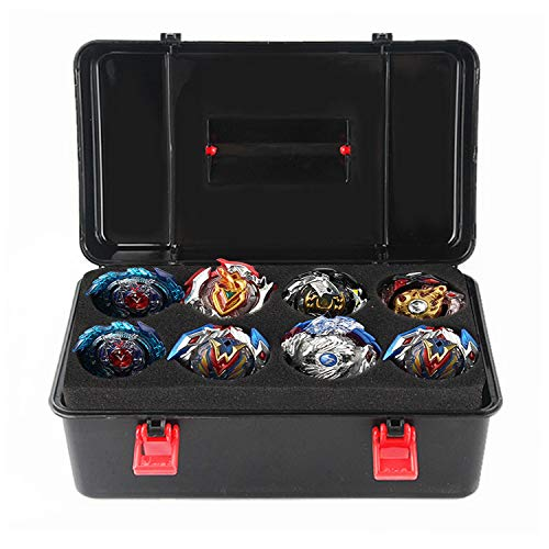 Gosear Beyblade Box ,Beyblade Case for LOL Dolls,Lps Figures--Portable Durable Plastic Storage Carrying Case Box Organizer for Beyblade Burst Gyro Launcher Accessories with Carrying Handle (Black)