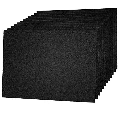 12 Pack Set Acoustic Absorption Panel, 12 X 16 X 3/8 Inches Black Acoustic Soundproofing Insulation Panel Tiles, Acoustic Treatment Used in Home & Offices