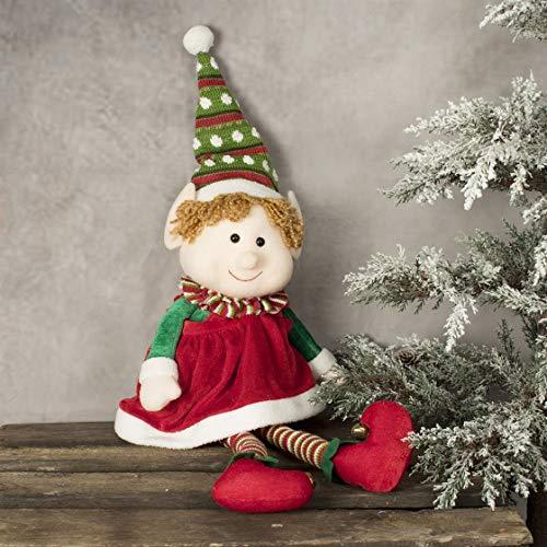 Widdop Peluche Elfo Di Natale Con Cappello A Pois