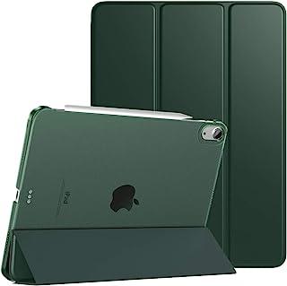 iPad air 4 ケース 2020 10.9インチ TiMOVO iPad Air 第4世代 半透明 ハードカバー PUレーザー 開閉式 三つ折り スタンド マグネット オートスリープ機能 Apple Pencil第2世代 ワイヤレス充電対...