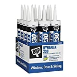12 Pack Dap 18300 DYNAFLEX 230 Premium Indoor/Outdoor Sealant - White 10.1-oz Cartridge (18275)