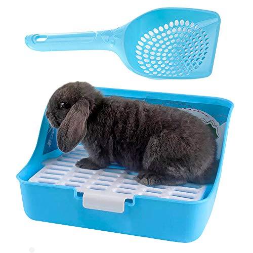 kathson Rabbit Litter Box, Rat Litter Tray Ferret Potty Training Corner Litter Pan Cage Cleaner for...
