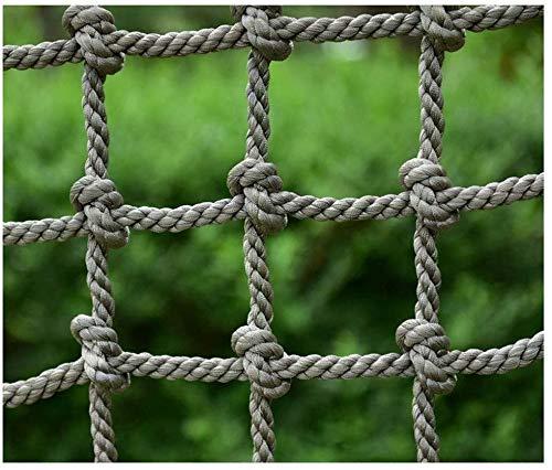 Veiligheid net decoratie/Safe Net Protection Hek Hennep touw Net voor Cargo Touw Ladder Balkon Banister Trapontwerp Mesh Grid Speeltuin Klimtouw Blokkeernet (Kleur: 16mm (5/8), Maat : 1 * 1m (3.3