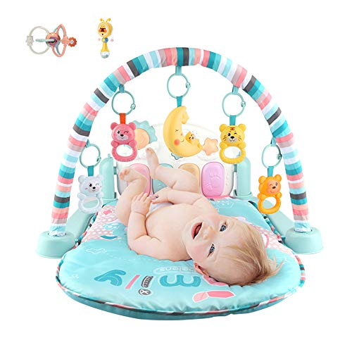 Review Baby Activity Gym, Multi Function Music Fitness Frame with Cartoon Animals Exercise Limbs Sui...