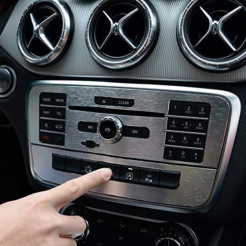 Topauto Top-Auto - Adhesivo para Mercedes Benz CLA 200 220 2014-2016 GLA 2015-2016 Clase A 2015 Clase B 2012 – 2014 ABS Cromado CD Consola Panel Trim Car Sticker Accesorios