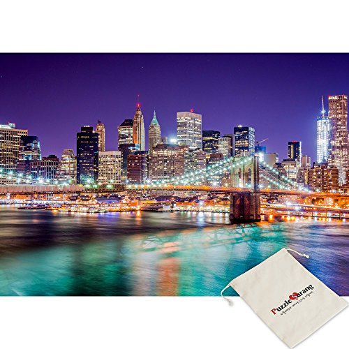 SunAndTree City Of Night, New York - 500 Piece Jigsaw Puzzle [Pouch Included]