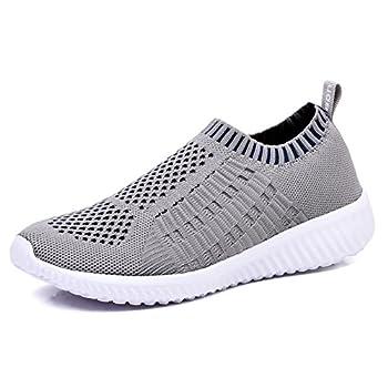 TIOSEBON Women s Athletic Walking Shoes Casual Mesh-Comfortable Work Sneakers 6 US Gray