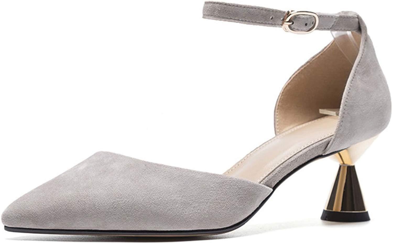 MKJYDM Damenschuhe Wiesen High Heels Pumps Flache Schuhe hohlen Sandalen Sandalen Sandalen Ferse Dicke Fersenschuhe 34-39 Yards Frauen High Heels (Farbe   G , Größe   34 EU)  erstaunliche colorways