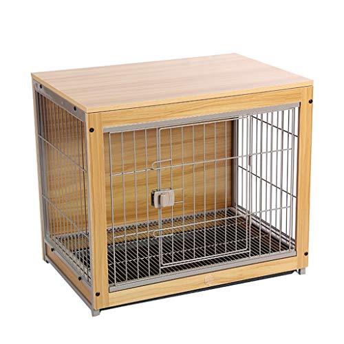 Perros Jaulas Jaula de perro de madera for mascotas cubierta Villa perro de la casa Cama for perros cajón del gato del perro de la jaula, perrera del perro, jaula de perro Perreras ( Size : S )