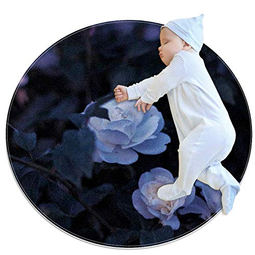 Flowers Roses Baby Play Mats - Baby Crawling Mats for Boys and Girls - Children's Room Decor for Play Carpet Floor Carpets