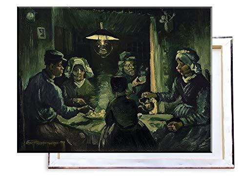 Unified Distribution Vincent Van Gogh - Die Kartoffelesser - Klassisches Gemälde - Replik auf Leinwand 80x60 cm