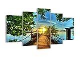 Impression sur Verre - Image sur Verre - 5 Parties - 150x100cm - 2573 - Plusieurs éléments - Tableaux pour la Mur - prete a Suspendre - Tableau en Verre - Moderne - Pret a accrocher - GEA150x100-2573