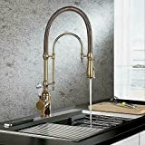 ZLLY Single Handle High Arc Swiveling Dual-Mode Pull-Down Sprayer Kitchen Faucet Sink Faucet