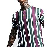 SSBZYES Camiseta para Hombre Camiseta De Manga Corta De Verano para Hombre Camiseta De Gran Tamaño para Hombre Camiseta para Hombre con Estampado De Rayas Camiseta Informal para Hombre