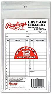 Rawlings System-17 Line-Up Cards (12 Cards)