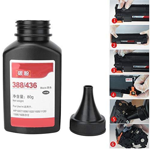 Recarga de polvo de tóner de 80 g / 2,8 oz apta para HP p1008 m1213 m1136 m1216 p1106 p1107 p1108
