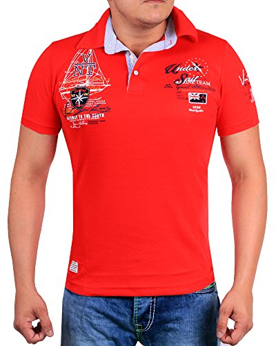 Herren T-Shirt Slim Fit 2597 (M-Slim, Rot 2621)
